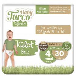 Baby Turco, Natúr Bugyipelenka, Maxi 4, (7-14 kg), 30 db