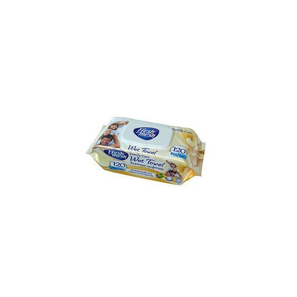 Fresh Mesh Family Care E-vitamin nedves törlőkendő fedeles, 120 db