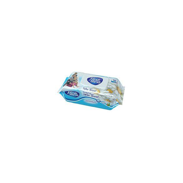 Fresh Mesh Family Care E-vitamin Kamilla illatú  nedves törlőkendő fedeles, 144 db