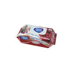 Fresh Mesh Family Care E- vitamin rózsa illatú  nedves tőrlőkendő fedeles, 144 db