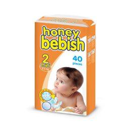 Honey Bebish Gazdaságos pelenka, Mini 2, (3-6 kg), 40 db