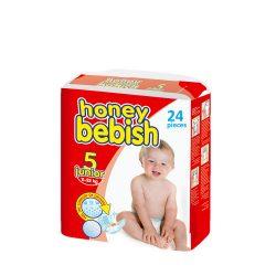 Honey Bebish Gazdaságos pelenka, Junior 5, (11-25 kg), 24 db