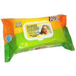 Honey Bebish baba nedves törlőkendő, 102 db