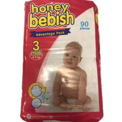 Honey Bebish Gazdaságos pelenka, Midi 3, (4-9 kg), 90 db