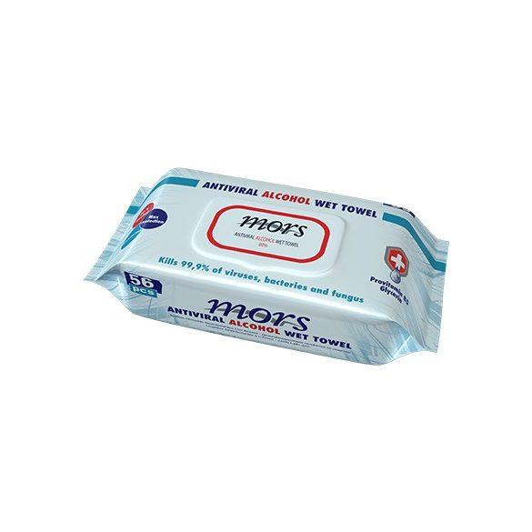 Mors Anti Viral B-5 provitamin vírusölő nedves törlőkendő fedeles  56 db