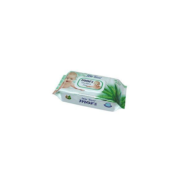 Mors Soft & Hygienic Aloe Vera illatú nedves törlőkendő fedeles  120 db