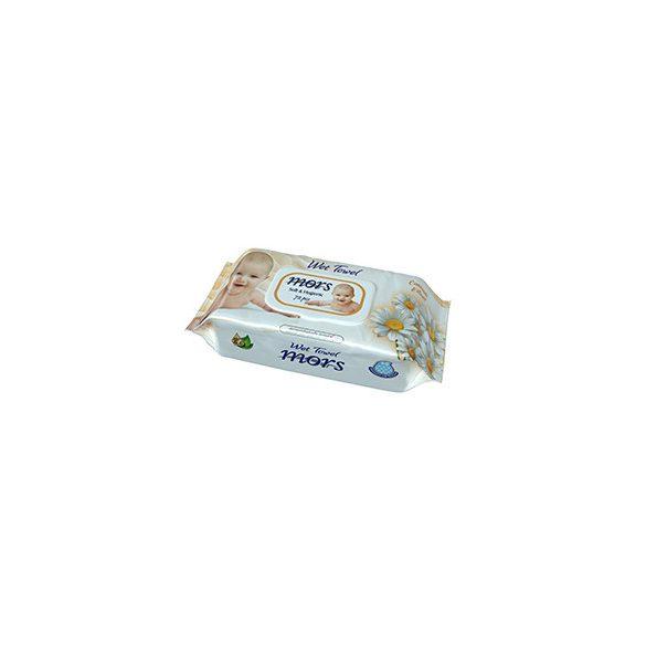 Mors Soft & Hygienic Baby Kamillás nedves törlőkendő fedeles  72 db