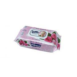Wipest Comfort rózsa illatú parabénmentes baba nedves törlőkendő fedeles, 100 db