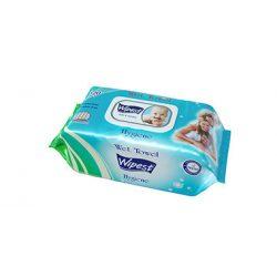 Wipest Hygiene parabénmentes nedves törlőkendő fedeles, 120 db