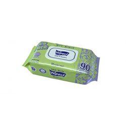 Wipest Hygiene parabénmentes nedves törlőkendő fedeles, 90 db